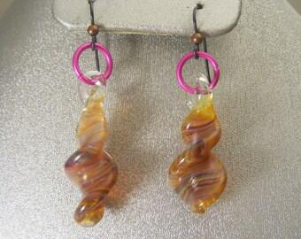 Boro Lampwork Glass Earrings  (ES20)