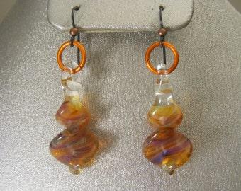 Boro Lampwork Glass Earrings  (ES24)