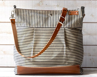 Striped Waxed Bags