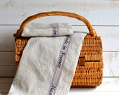 MADE IN FRANCE French country 2 Linen Towels/ shabby chic kitchen
