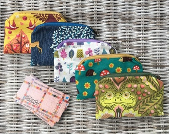 77a3aa07a Retro-Looking Zippered Mini Money Pouches, Credit Card Pouch, Business Card  Pouch, Earbud Pouch, Gift Card Pouch, Coin Purse, Gift for Her