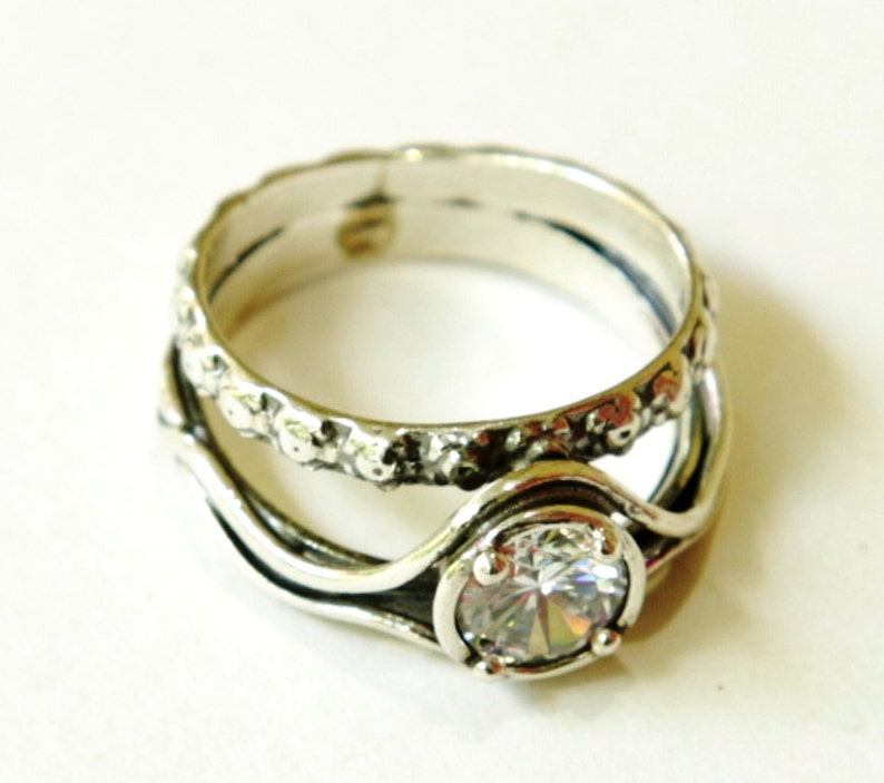 27361fb7264 Woman ring silver jewellery boho engagement ring Israeli