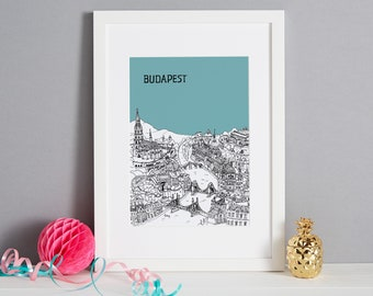 Personalised Budapest Print   Budapest Picture   Unique Wedding Gift   First Anniversary Gift   Engagement Gift   Budapest Gift   Valentines