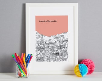 Personalised Coventry Graduation Gift Print   Coventry Graduation Gift   Coventry University Graduation Gift   Coventry Graduation Present