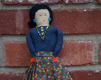 "Vintage Tourist Indian Doll 10.5"""