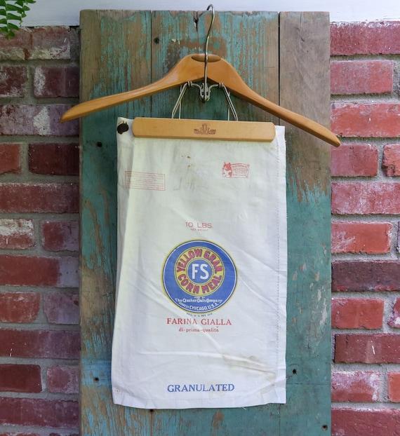 FS Corn Meal 10lb Bag 18 by 11 Quaker Oats Company Vintage Yellow Gran
