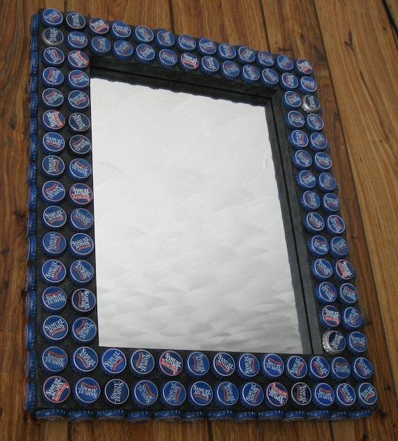 Bottle Cap Frame with Mirror Boston Lager Caps | Etsy