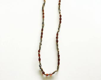 Garnet Wire Wrapped Necklace
