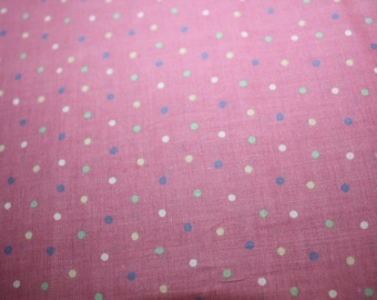 Quilters Choice Pink Purple, Teal and White Dots by Joan Pace Baker 1 1/3 yards