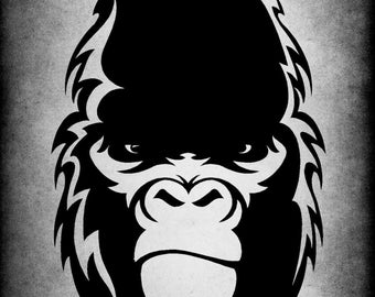 Gorilla Vinyl Wall Decal Ape Primate Someone You Know Jungle King Kong