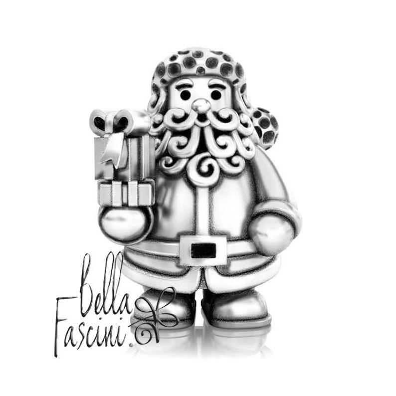 9b4b79314 Christmas Gift Giving Santa Claus Bead Charm 925 Silver | Etsy