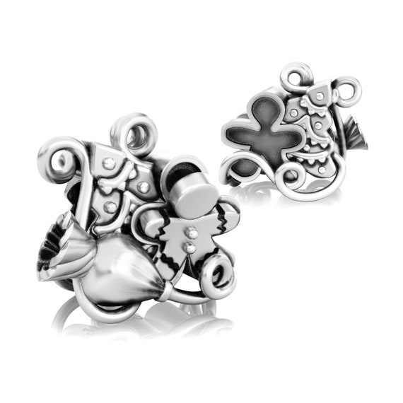 925 Sterling Silver Fits European Charm Bracelet Authentic Christmas Cookie Madness Bead
