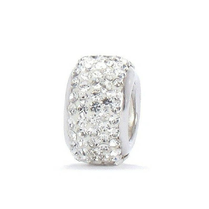 AmaranTeen 18K Real white gold plated Rhinestone Crystal PU
