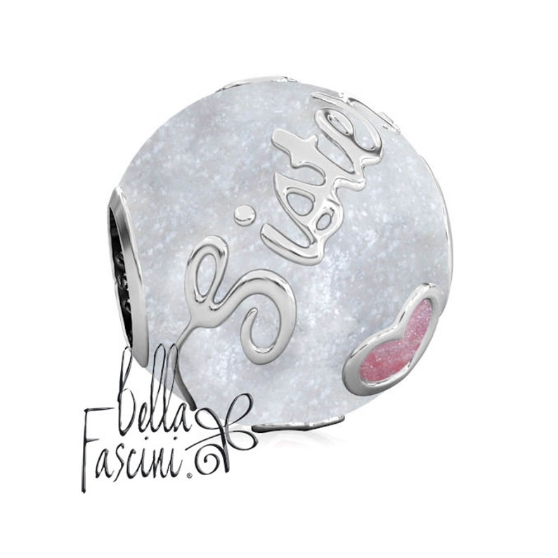 b46b9883d SISTER Family Enamel Bead Charm Authentic BELLA FASCINI® | Etsy