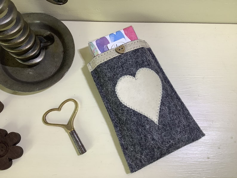 100/% wool Pocket tissue holder Mothers day gift