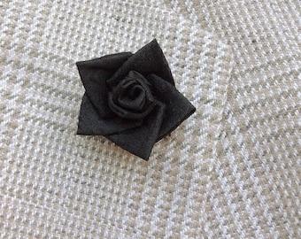 Lapel Pins Mens Lapel Pin Flower Lapel Pin Black Lapel Flower Custom Silk Boutonniere Kanzashi Rose Groomsman Gift For Men Father's Day Gift