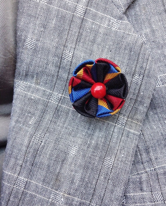 Lapel pins men lapel pin flower lapel pin silk lapel flower etsy image 0 mightylinksfo