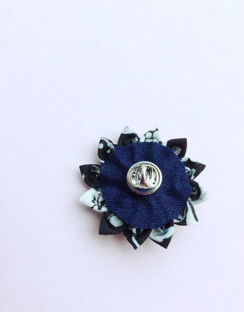Lapel Pins Mens Lapel Pin Flower Lapel Flower Black White Pocket Square Set Kanzashi Boutonniere Boyfriend Gift For Men Custom Suit Pin