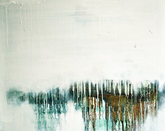 Winter Landscape 2  - original abstract oil painting , 23x20 inch