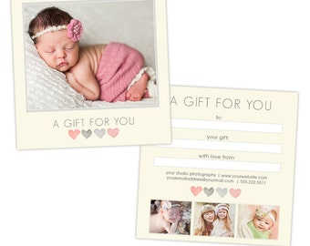 Photography Gift Certificate - Photoshop Template - INSTANT DOWNLOAD