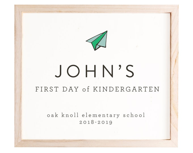1st Day of School Sign, Boy, Editable, Preschool Sign, Kindergarten Sign, Back to School Sign, Personalized School Sign, First Day of School