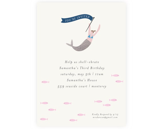 Under the Sea Birthday Invitation | Mermaid Invitation, Editable, Printable Template, Instant Download, Mermaid Baby Shower