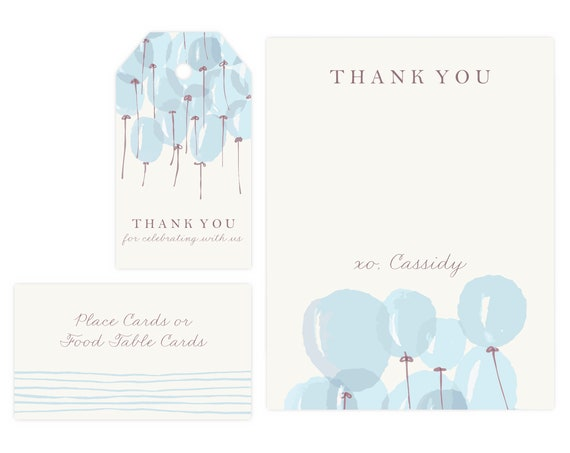 Boy Baby Shower Thank You Card   Baby Shower Gift Tags, Baby Boy, Favor Tags, Gift Tag, Thank Yous, Printable Template, Instant Download PDF