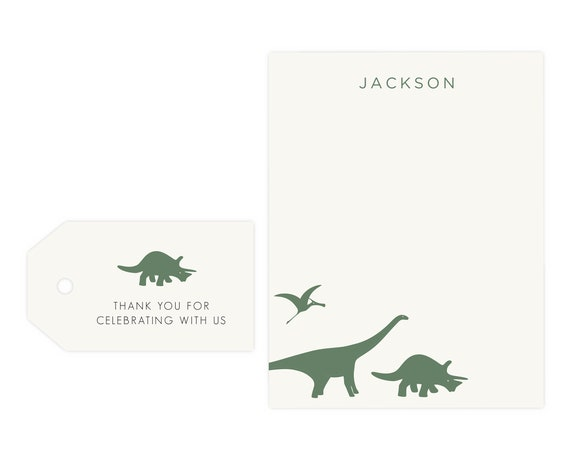 Dinosaur Thank You Cards | Dino Gift Tags, Dinosaur Gift Tags, Digital Download, Printable Template, Instant Download