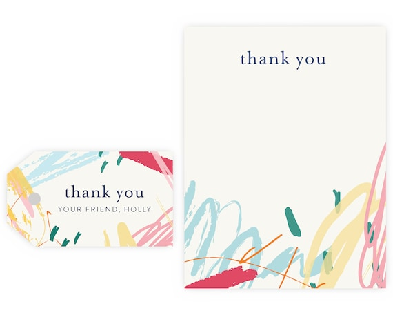 Art Party Thank You Notes and Gift Tags