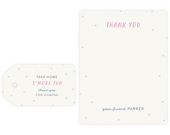 S'more Fun Thank You Notes and Gift Tag