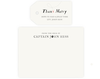Pirate Thank You Cards and Gift Tags    Pirate Birthday Party, Pirate Party, Instant Download