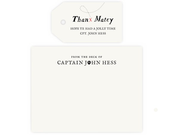 Pirate Thank You Cards and Gift Tags |  Pirate Birthday Party, Pirate Party, Instant Download
