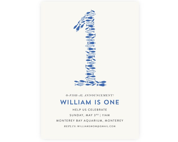 O'fishally One Birthday Invitation | O'fishal Birthday, Fish Birthday, Little Fisher, Instant Download