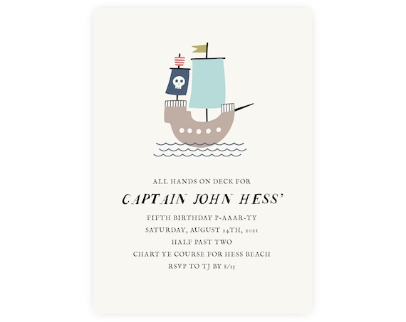 Pirate Invitation — Pirate Birthday Invitation — Pirate Theme — First Birthday, 1st Birthday, Edit Now!