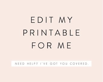 Edit My Printable for Me