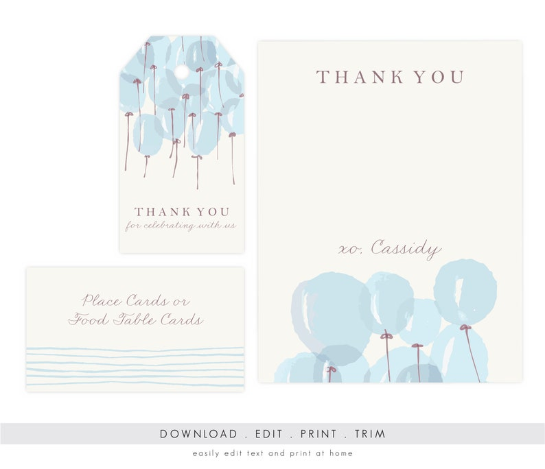 Boy Baby Shower Thank You Card Baby Shower Gift Tags Baby Etsy