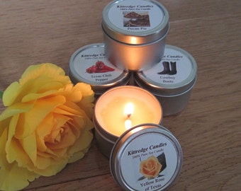 TEXAS SAMPLER (four 2-oz soy candles)