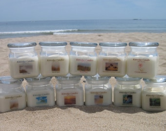BEACH COLLECTION: One 10-oz Soy Jar Candle