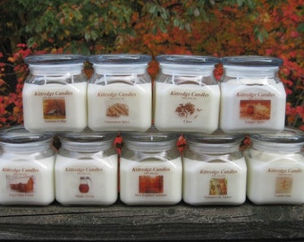 AUTUMN COLLECTION - One 10-oz Soy Jar Candle
