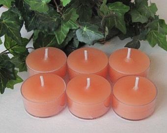 Tea lights - soy or paraffin (set of 6)
