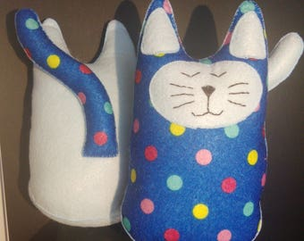 Cat shaped soft toys