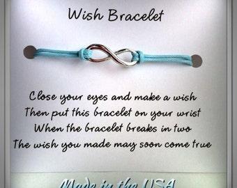 Promise Bracelet, Wish Bracelet, Infinity Bracelet, Friendship Bracelet, Birthday gift, Gift for her, Best friend jewelry, BFF gift