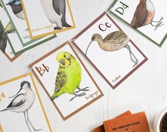 Bird alphabet paper bunting