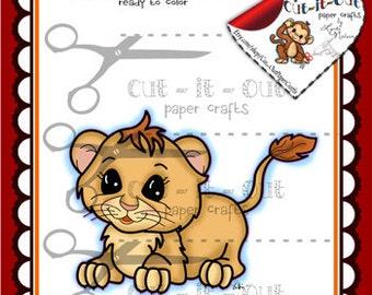Adorable Elephant Digi Stamp Scrapbooking Printable Zoo Etsy