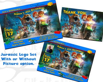 Lego birthday invitations, Jurassic Lego party invitations, Lego invitation, Jurassic invitation, lego birthday