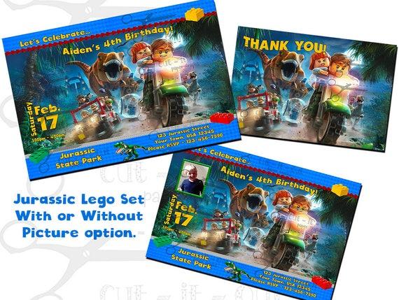 Lego Birthday Invitations Jurassic Party