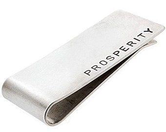 Personalized Sterling Silver Money Clip - Custom Handmade - Gift for Dad - Father's Day Gift - Metal Wallet - Wedding Gift for Dad