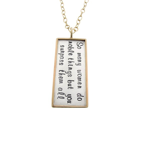 Custom Necklace Hand Stamped Noble Woman Proverbs 3129 14k Etsy
