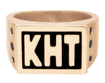 Custom Signet Ring - Family Crest Ring - Engraved Signet Ring Men Solid Gold - Logo Ring - Signet Ring Silver - Class Ring - Mens Pinky Ring