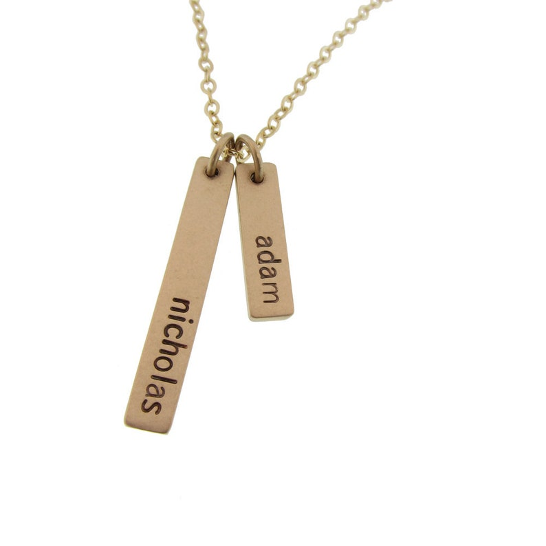 b152190bf Popular Jewelry for Her Fine Personalized Gold Necklace with   Etsy
